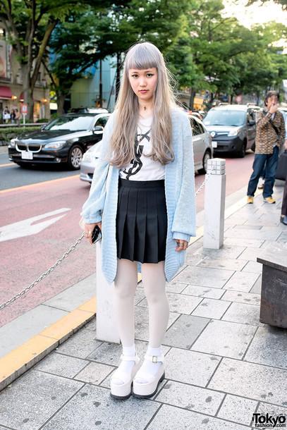 cardigan tokyo fashion japanese clothes cute pastel kawaii