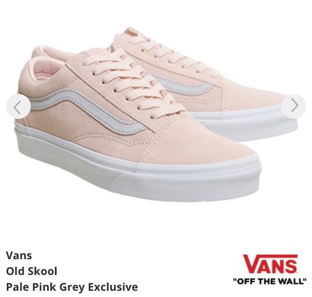 shoes vans pink light pink trainers d319f75d99af
