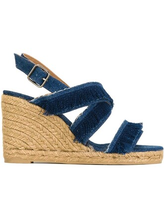 sandals blue shoes