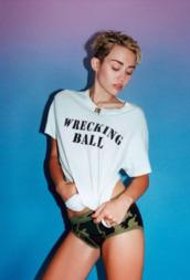 shorts,miley cyrus,t-shirt,shirt,short,army green jacket,emily osment,dress,wrecking ball,sexy shorts,sexy,lovely,white shirt,little black dress,pretty little liars,hannah montana