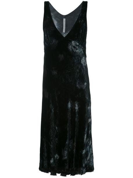 Raquel Allegra dress women tie dye cotton black silk velvet