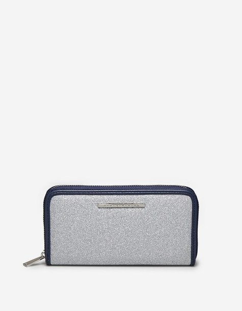 zip purse grey bag
