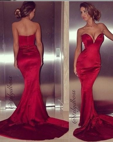 Cheap Elegant Prom Dresses - Discount 2014 New Arrival Sexy Red Sweetheart Backless Mermaid Online with $107.13/Piece | DHgate