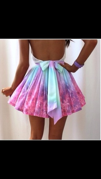 mint and blue dress please help?! pink dress neon backless short tie dye tie die
