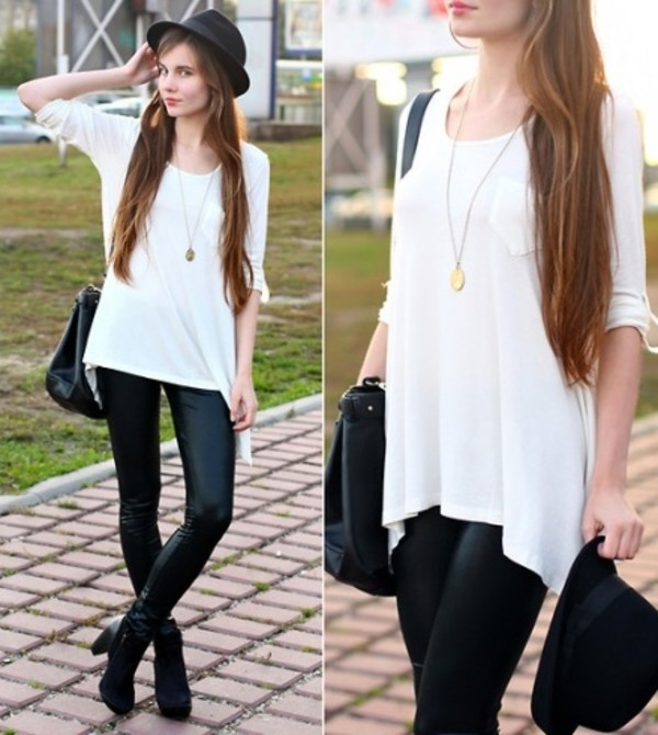Long White Tops For Leggings