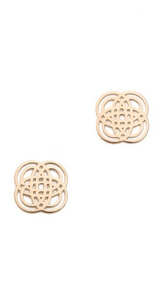 rose gold rose earrings stud earrings gold jewels