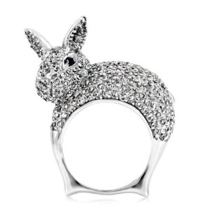 Amazon.com: Pat's Bunny Cocktail Ring: Jewelry
