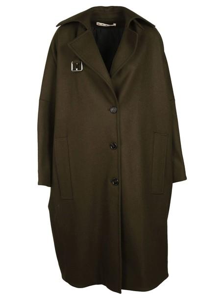 coat oversized green
