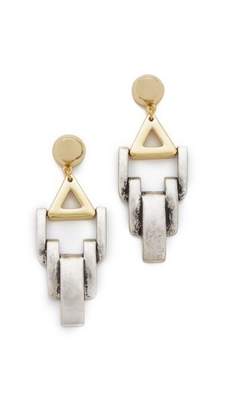geometric earrings gold silver jewels