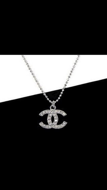 jewels chanel necklace silver diamonds