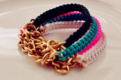 jewels,jewelry,bracelets,colorful,neon,black,chain,gold