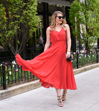 visions of vogue blogger dress shoes bag sunglasses make-up