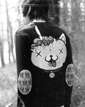 sweater dead cat elbow patches menswear grunge menswear mens sweater