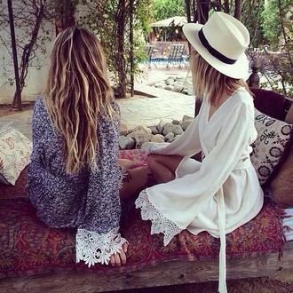 dress white dress printed dress boho bohemian dress hippie hippie dress hippie floral