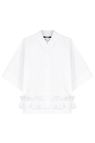 blouse ruffle white top