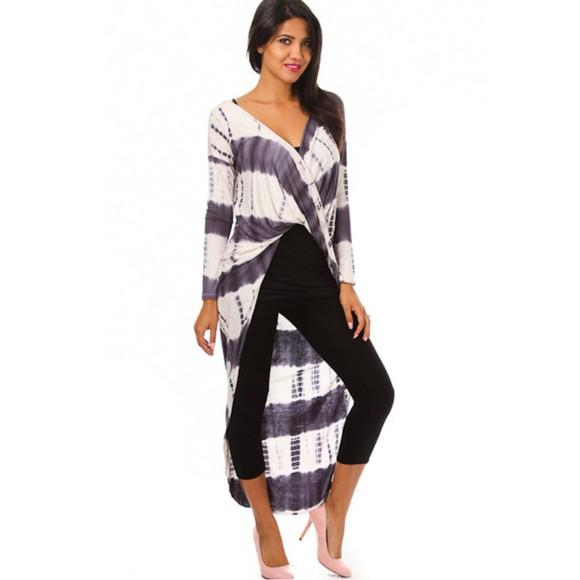 asymmetrical top edgy trendy tie dye tie dye top stripes maxi top