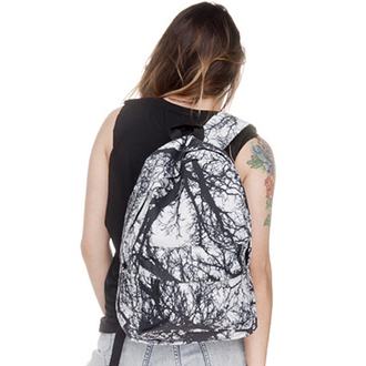 bag fashion style backpack black and white tree cool boogzel
