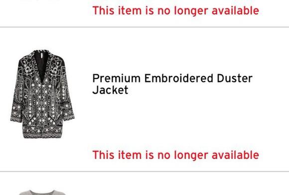 embroidered jacket duster coat topshop black mary kate and ashley fashion grunge glamor kills