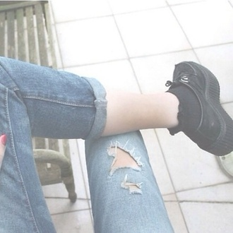 shoes jeans creepers high heels creepers cool sweet amazing flawless dream noah nyc