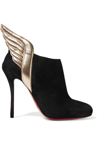 suede ankle boots metallic boots ankle boots leather suede black shoes