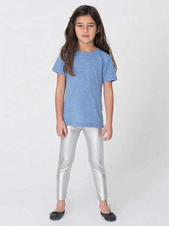 Kids Shiny Leggings | American Apparel