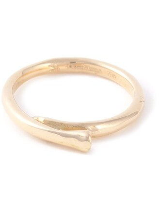 metallic women ring gold jewels