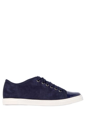 sneakers leather suede dark blue dark blue shoes
