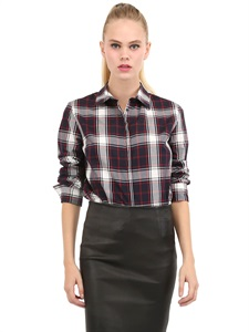 Doris checked cotton shirt