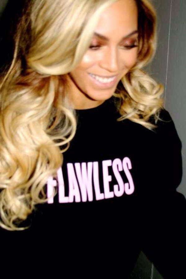 sweater flawless beyonce pink black