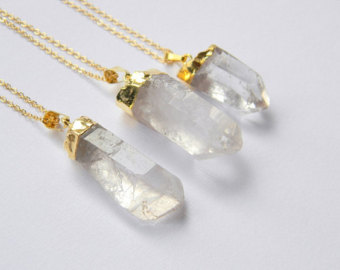 Popular items for crystal point necklace on etsy