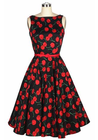 50s style vintage dress 50s dress print print dress prom dress eveing dress vintage 60s style 70s style