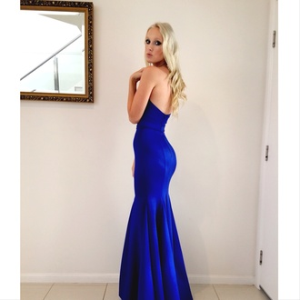 formal dress prom dress prom blue dress strapless bodycon