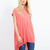 SELENE - Oversized Top With Necklace Coral - Blue Vanilla