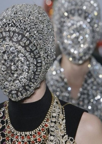 mask jewels diamonds kanye west hba maison martin margiela