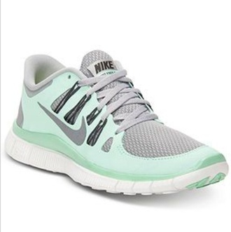 shoes nike running shoes nike free run nike teal grey