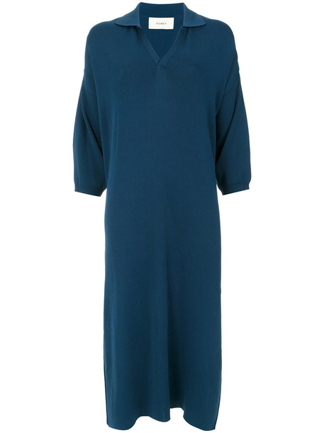 EGREY dress women blue knit
