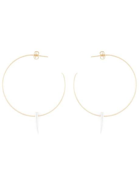 Wouters & Hendrix women earrings hoop earrings silver grey metallic jewels