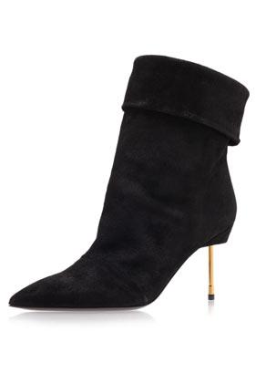 **Baker Metal Heel Ankle Boots by Kurt Geiger - Topshop