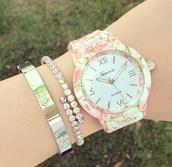 jewels,watch,geneva,floral