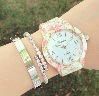 jewels watch geneva floral watches for women jewelry bracelets stacked bracelets silver silver bracelet