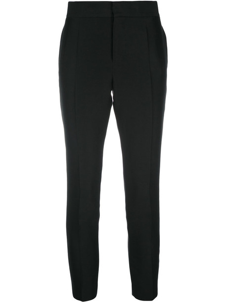 Dsquared2 cropped women black silk wool pants