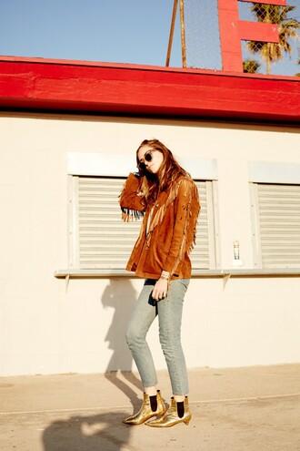 the blonde salad blogger shoes jeans sweater jewels jacket bag sunglasses