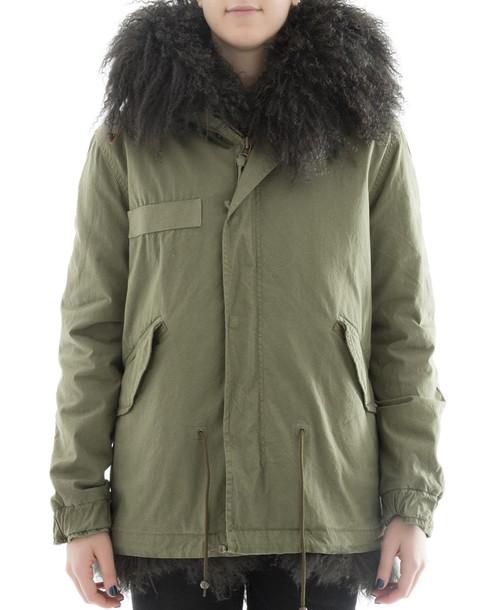 Mr & Mrs Italy parka cotton green coat