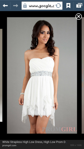 dress white dress white short prom dress jewels