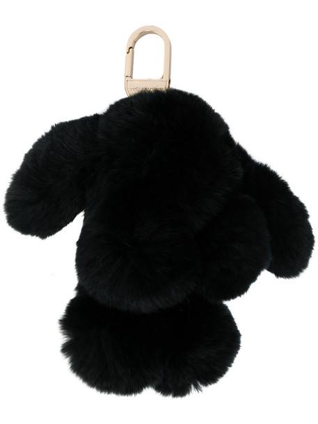 bag charm fur women dog bag black