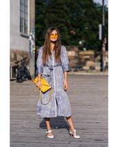dress,midi dress,floral dress,bag,sunglasses,v neck dress