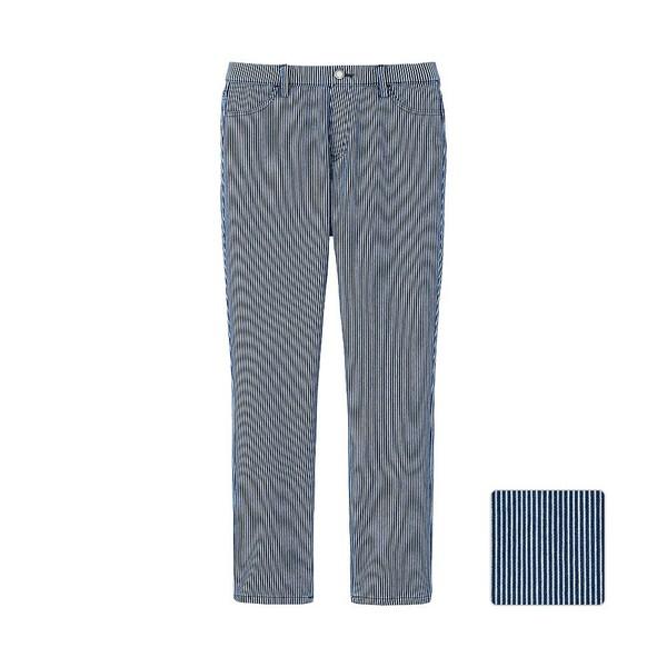 pants uniqlo striped pants cropped pants