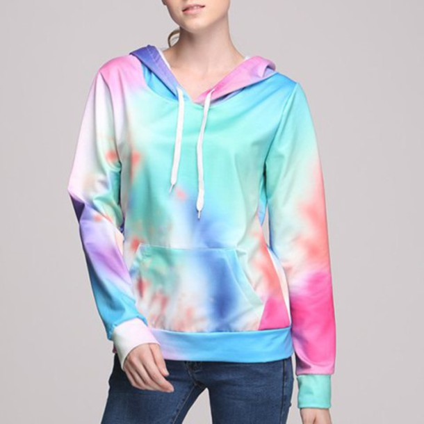 sweater hoodie tie dye tie dye sweater fall outfits pastel pastel goth winter outfits winter sweater