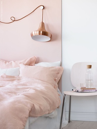 home accessory pink bedding pillow rose knots rose gold bedroom