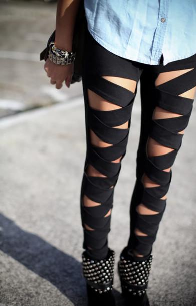 pants clothes leggings black leggings shoes black jeans ripped jeans ...